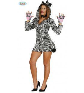 Zwoele Zomer Zebra Vrouw Kostuum
