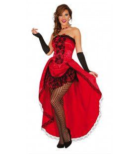Zwierige Burlesque Jurk Rood Vrouw