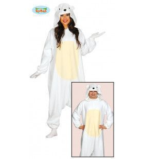 IJsbeer Knut Jumpsuit Kostuum
