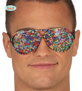 Bril Vol Glitter Steentjes Disco