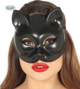 Halfmasker Zwarte Kat Kitty