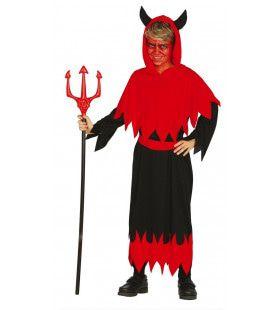 Helrood Duivel Jongen Kostuum