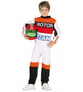 Grand Prix Motorcoureur Jongen Kostuum