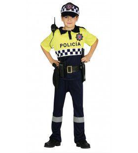Strenge Verkeerspolitie Agent Jongen Kostuum