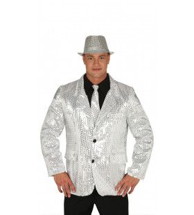 Zilveren Lovertjes Colbert Man