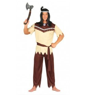Vijftig Scalpen Indiaan Man Kostuum