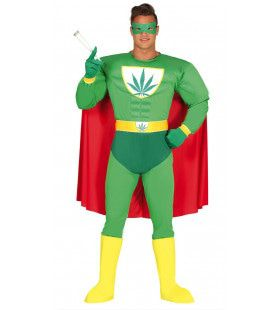 Marihuana Superheld Man Kostuum