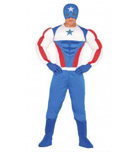 Zeer Brede Superster Held Man Kostuum