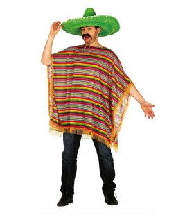 Mexicaanse Fiesta Poncho Kostuum
