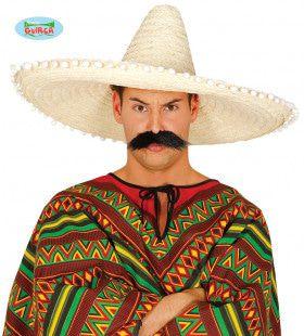 Grote Sombrero Wit Met Bolletjes Juan