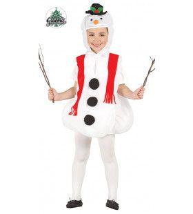 Kinder Sneeuwpop Bedekt Kind Kostuum