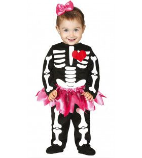 Schattig Tutu Skelet Meisje Kostuum