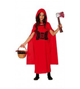 Roodkapje Lust De Wolf Rauw Meisje Kostuum