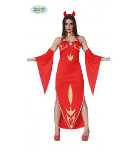 Anime Duivelin Vlammen Vrouw Kostuum