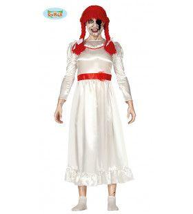 Gruwelijke Kwade Behekste Pop Vrouw Kostuum