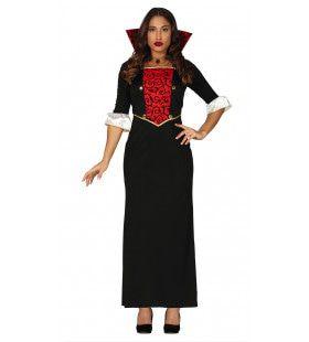 Dame Van Stand En Scherpe Tand Vrouw Kostuum