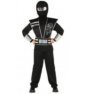 Zilveren Draak Ninja Kostuum