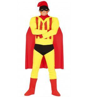 Catalaanse Superheld Karel Van De Berg Man Kostuum