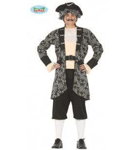Succesvolle Rijke Victoriaanse Piraat Man Kostuum