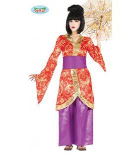 Japanse Gezelschapsdame Geisha Vrouw Kostuum