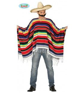 Kamerbrede Mexicaanse Poncho