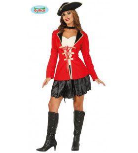 Meedogenloze Kaap Piraat Vrouw Kostuum