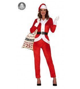 Keurige Kerstvrouw Koude Winters Kostuum