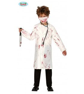 Op Hol Geslagen Bloederige Dokter Kind Kind Kostuum