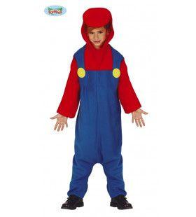 Treinmachinist Loodgieter Mario Kind Kostuum