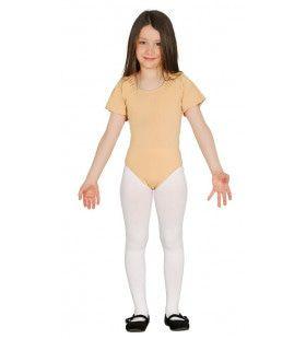 Huidskleur Body Ballerina Dansvoorstelling Meisje Kostuum