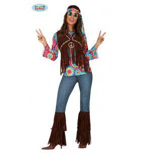 Weer Helemaal Hip Hippie Vrouw Kostuum