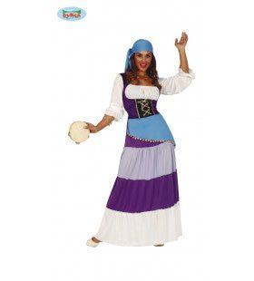 Ritmische Zwoele Zigeunerdame Vrouw Kostuum
