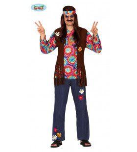 Psychedlische Forever Young Hippie Man Kostuum