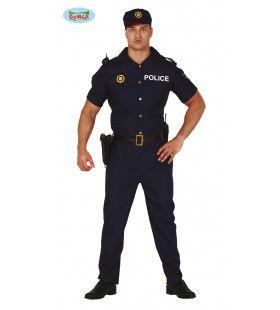 Spaanse Politie Agent Barcelona Man Kostuum