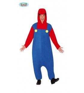 Vakman Loodgieter Mario Computerspel Kostuum