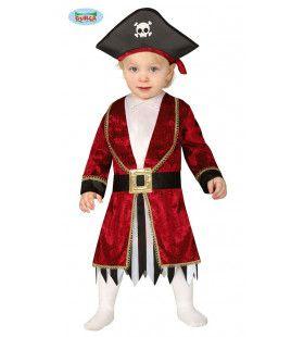 Stoere Onverzettelijke Barbados Piraat Jongen Kostuum