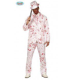 Bloederig Compleet Dolgedraaide Halloween Moordenaar Man Kostuum