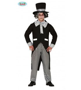 Idioot Druk Stippel En Blokjes Man Kostuum