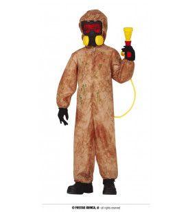 Biohazard Zombie Wetenschapper Kind Kostuum