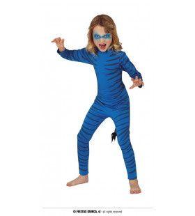Blauwe Avatar Neytiri Meisje Kostuum