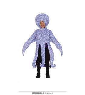 Octopus Met Lange Tentakels Kind Kostuum