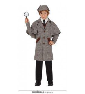 Engelse Detective Op Een Goed Spoor Kind Kostuum