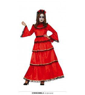 Vrouw Van De Dood Rood Kostuum