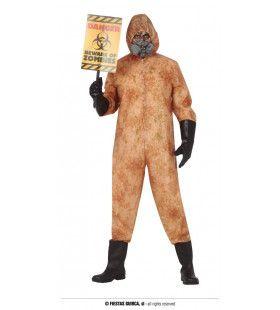 Biohazard Zombie Overname Kerncentrale Man Kostuum