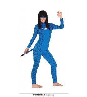 Blauwe Avatar Navi Moat Vrouw Kostuum
