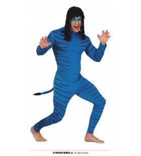Blauwe Avatar Norm Navi Man Kostuum