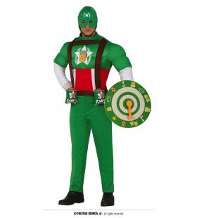 Groene Superheld Kapitein Bier Man Kostuum