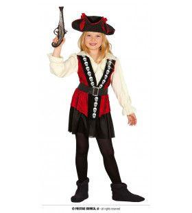 Meedogenloze Doodskop Piraat Meisje Kostuum