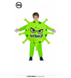 Monsterlijk Groene Virus Ramp Kind Kostuum