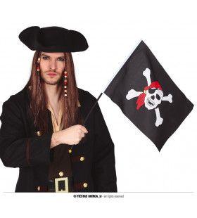 Zwarte Piratenvlag Met Doodshoofd 42 X 30 Centimeter